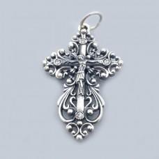Срібний хрестик бр-1107131