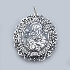 Срібна ладанка Володимирська Божа матір бр-1110031