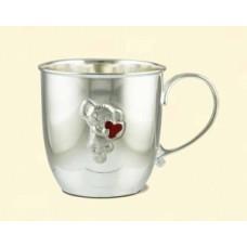 """Серебряная чашка """"Мышонок с сердечком"""" АГ-2.8.0098"""