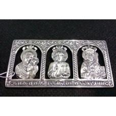 Серебряная икона для автомобиля бр-8100103