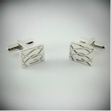 Серебряные запонки ЮМ-8246
