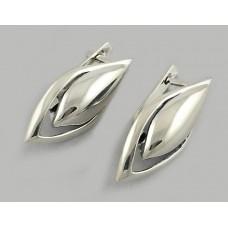 Серебряные серьги без камней БР-0040911