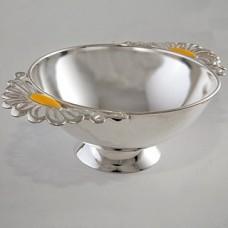 "Серебряная тарелка ""Ромашка"" ХЮ-080002"