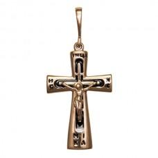 Золотой крест с эмалью аг-1.4.0813