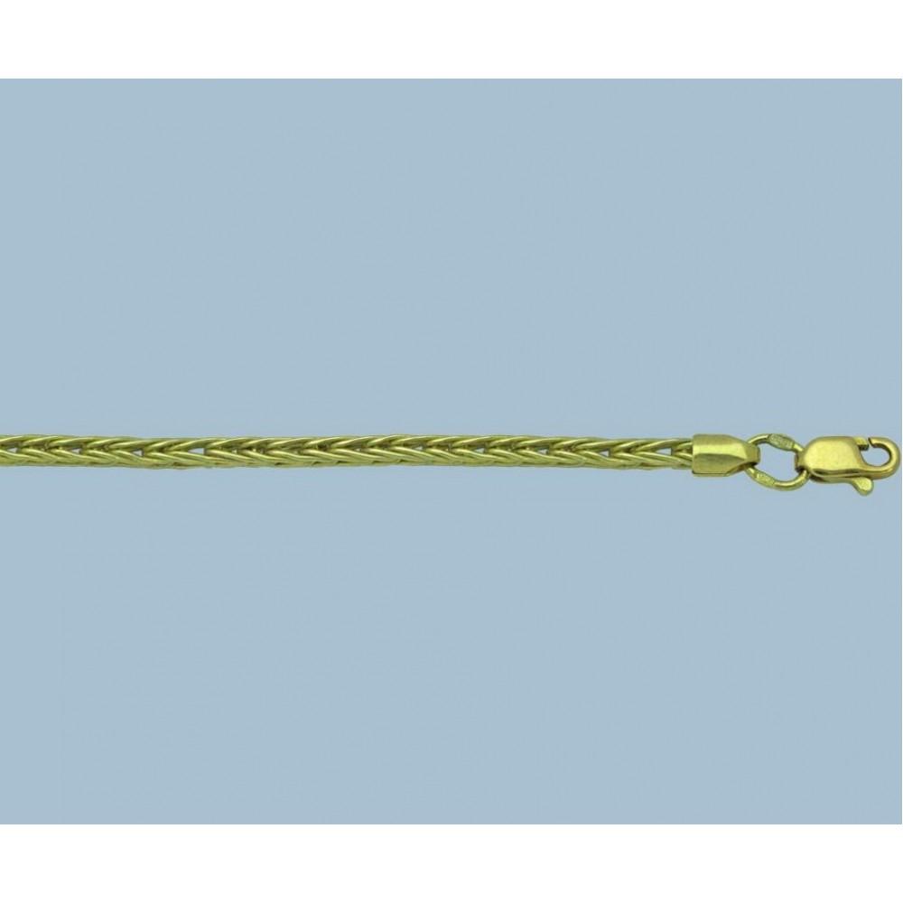 Золотая цепочка Колосок 50см шк-1102