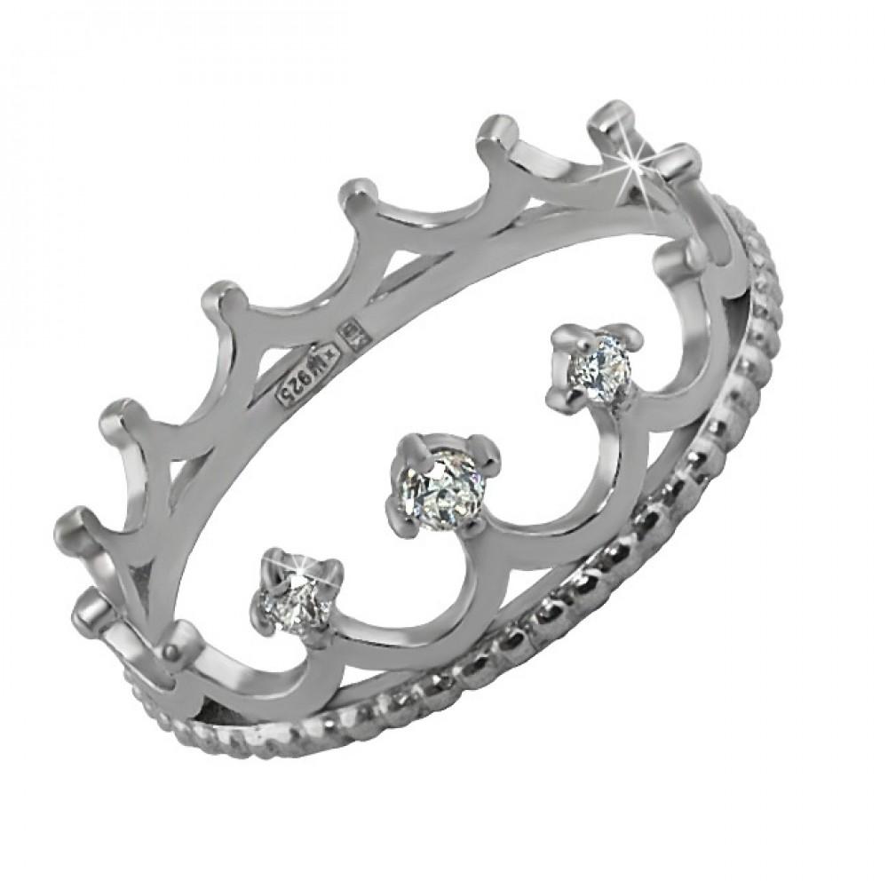 Срібна каблучка Корона ЮМ-1349