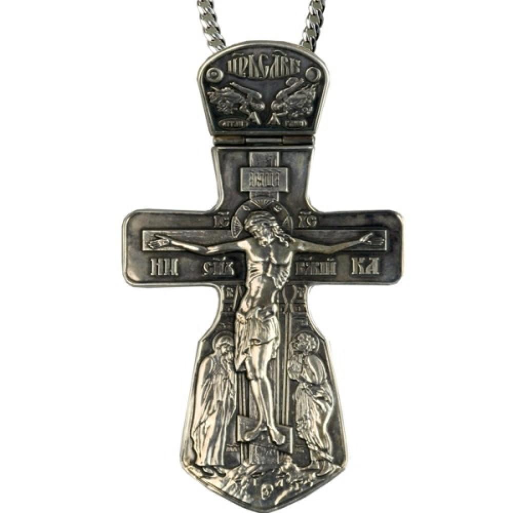 """Крест №22 """"Голгофа"""" серебряный с чернением 2.10.0022"""