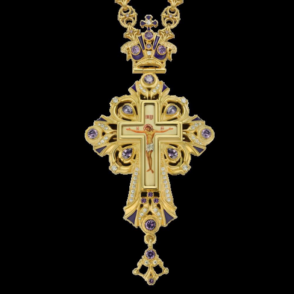 Крест наперсный латунный 2.10.0098ЛП-244ЛП