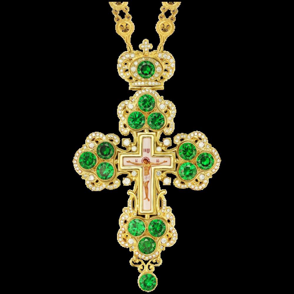 Крест наперсный латунный в позолоте 2.10.0126ЛП-235ЛП