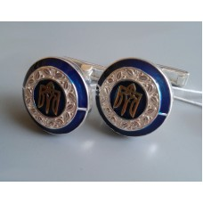 Срібний запонки Тризуб бр-6100044