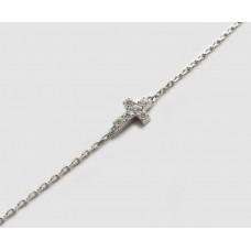 Срібний браслет Крест БР-1052551