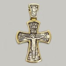 Серебряный крест с позолотой и чернением ЛЗ-34003