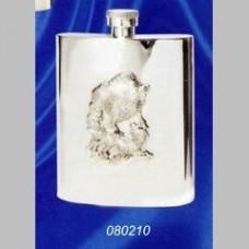 "Серебряная фляга ""Кабан"" ХЮ-080210"