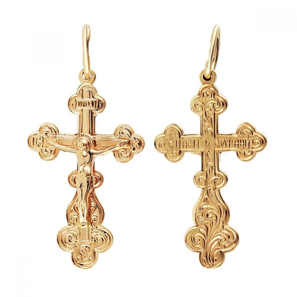 Золотой крест для крещения аг-1.4.0603