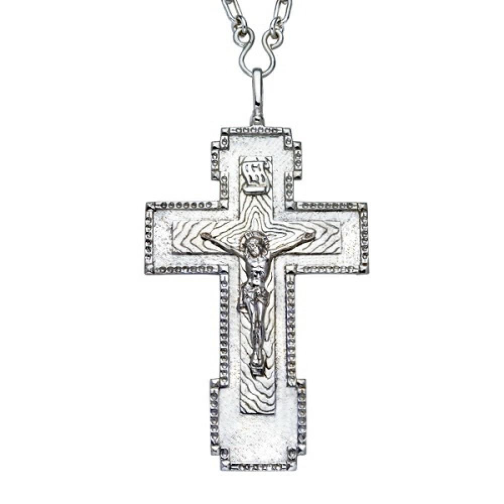 Крест Иерейский латунный с цепью 2.10.0008КЛ10Л