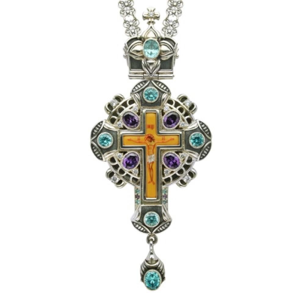 Крест наперсный серебряный с цепью 2.10.0082-241
