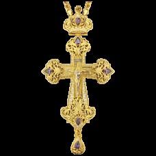 Крест наперсный латунный в позолоте 2.10.0130ЛП1ЛП