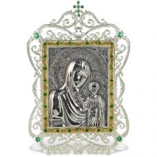Икона серебряная настольная с образом Божьей матери Казанской АГ-2.71.0004