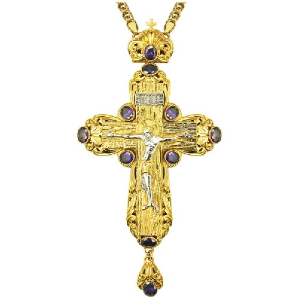 Крест латунный в позолоте 2.10.0134ЛП1ЛП