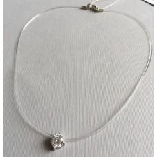 Серебряная Капелька на шею на силиконе ЯН-4054
