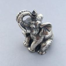"""Серебряная статуэтка """"Слоник"""" бр-0035581"""