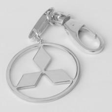 """Серебряный брелок """"Mitsubishi"""" (Мицубиси) 8115"""