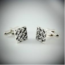 Серебряные запонки ЮМ-8244