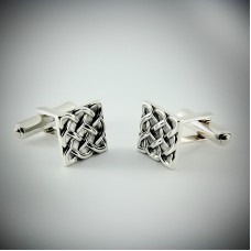 Срібний запонки ЮМ-8244