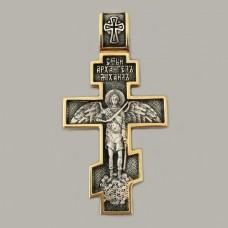 Хрест із срібла з частковою позолотою Архангел Михаїл  ЛЗ-34011