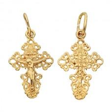 Золотой крест Ажурный аг-1.4.0779