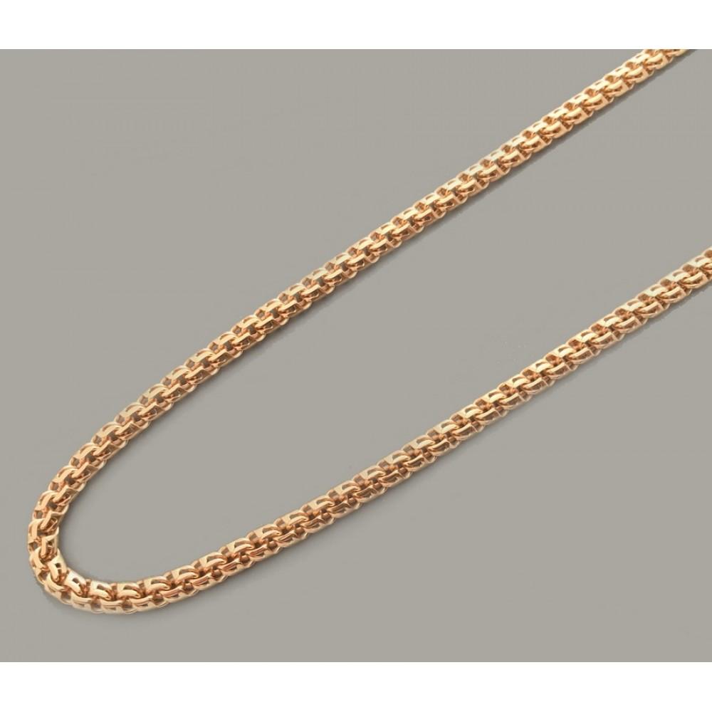 Золотая цепочка Бисмарк круглый 55см шк-1040