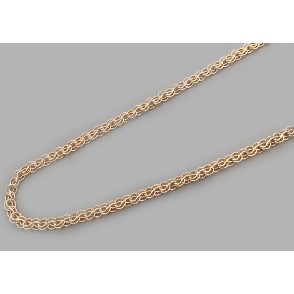 Золотая цепочка Ручеек из бисмарка 55см шк-1057