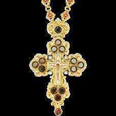 Крест наперсный латунный в позолоте 2.10.0126ЛП-262ЛП
