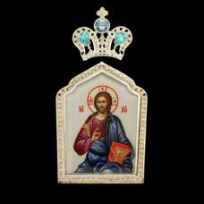 "Накладка на митру латунная ""Спаситель"" аг-2.7.0388ЛС"