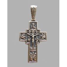 Срібний хрестик 33 бр-3100109