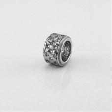 Серебряная бусина ЮМ-3907