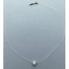 Серебряная Капелька на силиконе бр-1003441