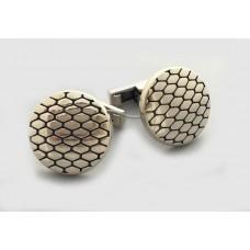 Срібний запонки Пітон бр-6100057