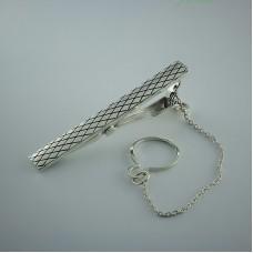 Серебряный зажим для галстука ЮМ-8445