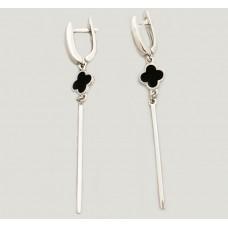 Серебряные серьги с эмалью ЛЗ-2491