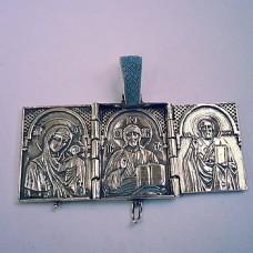 Серебряная ладанка триптих стп-16