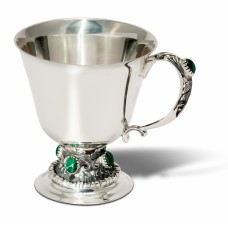 "Срібна чашка ""Малахіт"" ХЮ-040034"