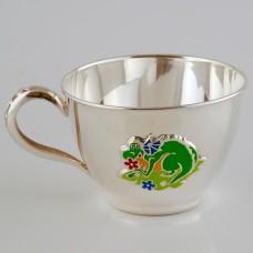 """Серебряная чашка """"Дракончик"""" ХЮ-080010"""