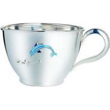 """Срібна чашка """"Дельфінчик"""" ХЮ-080354"""