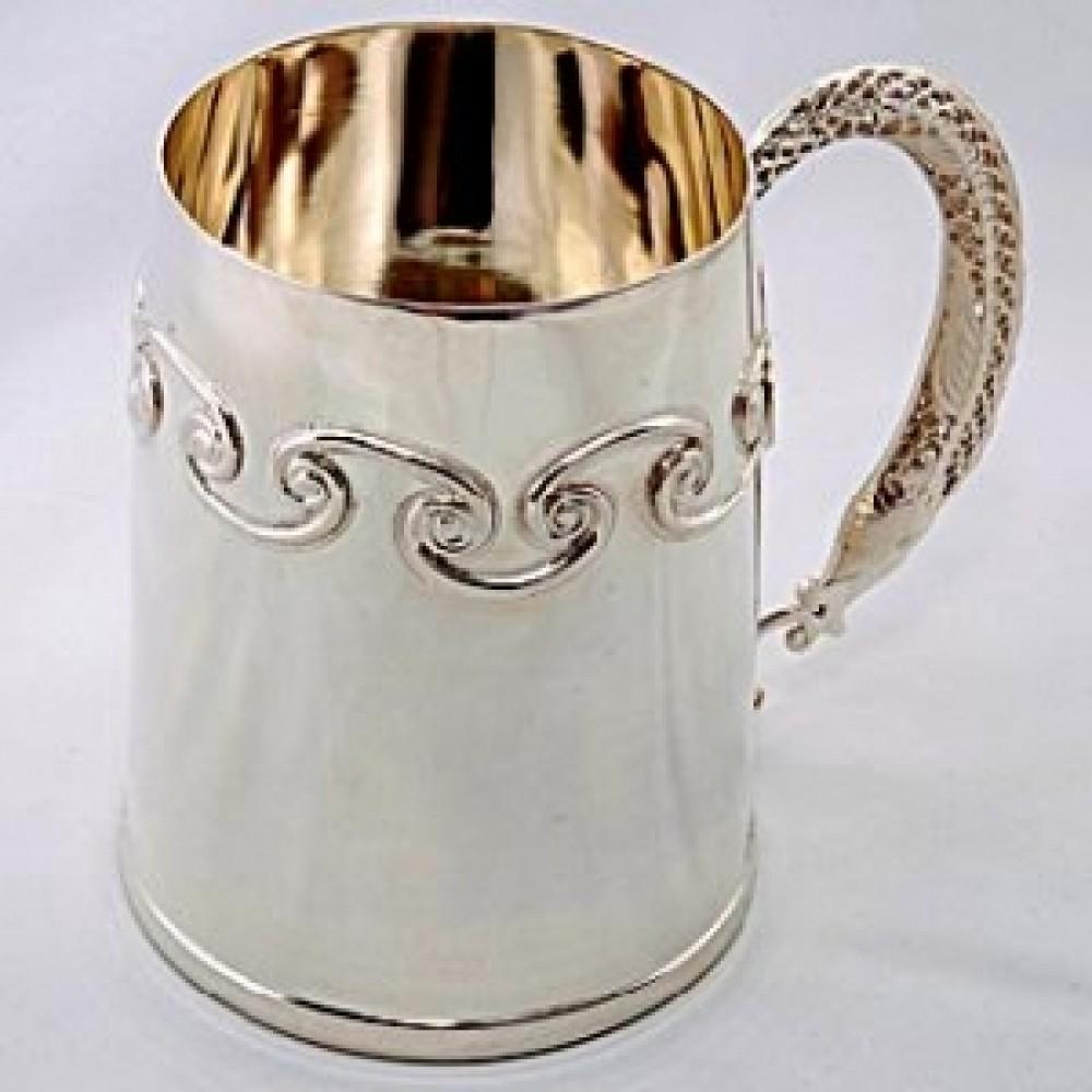 Серебряная пивная кружка Рыбка ХЮ-080528