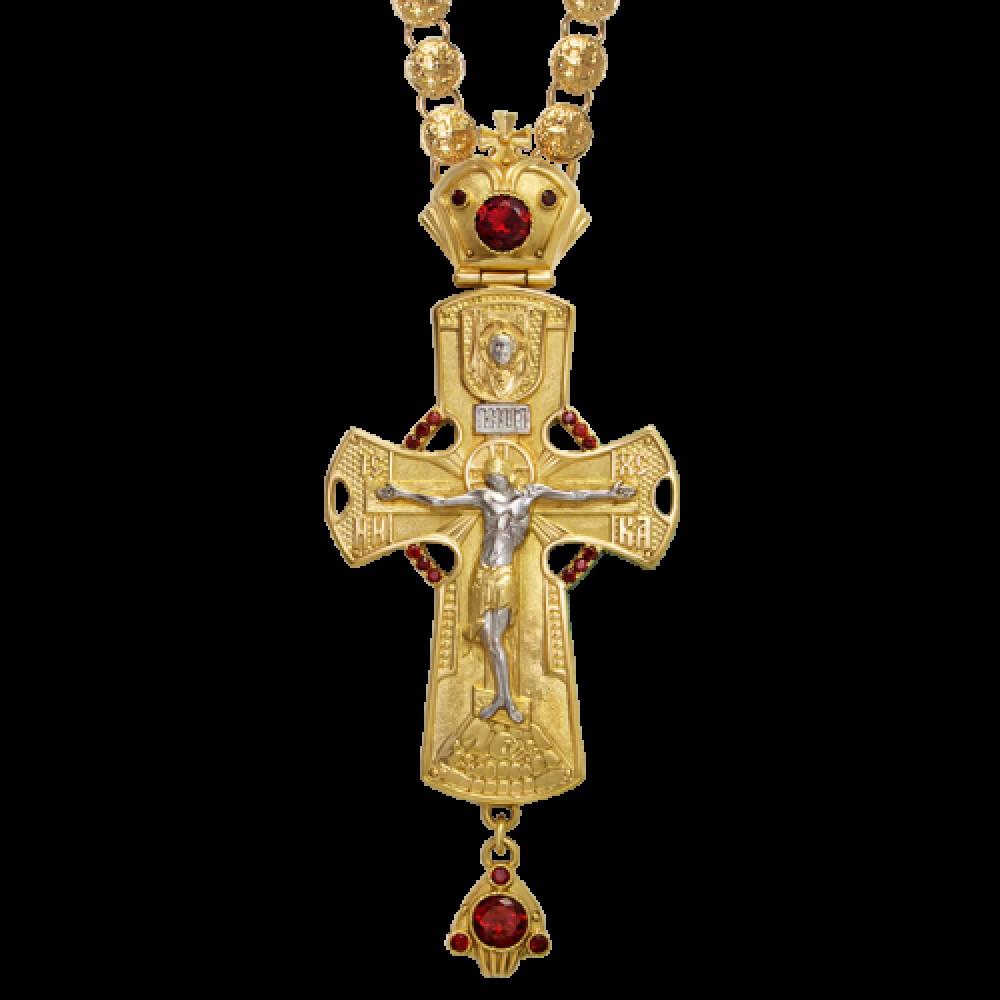 Крест наперсный латунный в позолоте с цепью 2.10.0136ЛП75ЛП