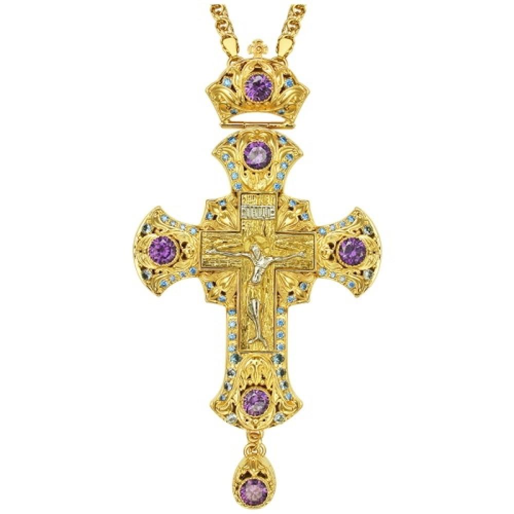 Крест наперсный латунный в позолоте 2.10.0153ЛП1ЛП