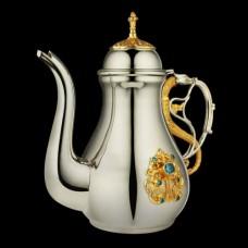 Чайник для теплоты латунный с фрагментальной позолотой аг-2.7.0644ЛФ