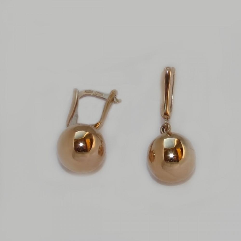 Золотые сережки легковесные АЛ-2700568