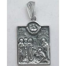 Срібна ладанка Явище Пресвятої Богородиці 83 бр-3100269